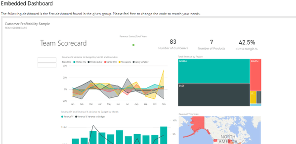 power bi embedded dashboard