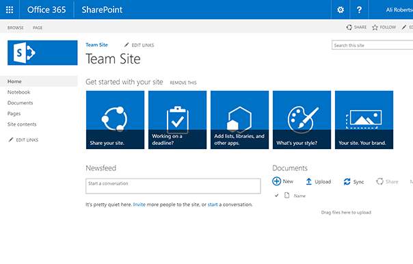 sharepoint content layout