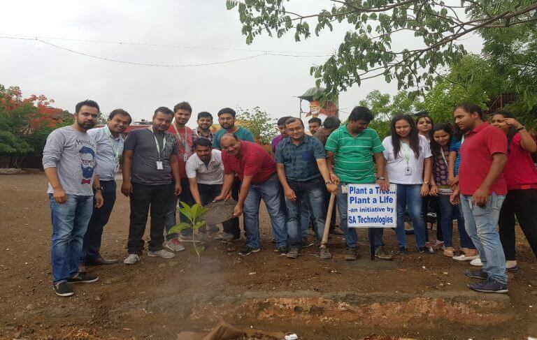 Go Green – Tree Plantation Initiative by SA Technologies Members – CSR Activity